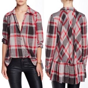 Free People Preppy in Plaid Button Down Top